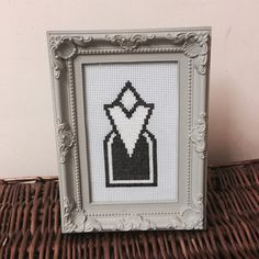 Skyrim/ESO inspired map marker cross stitch by hestCreative