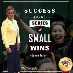 Success is a Series of Small Wins. 🏆 Keep trying.  www.pmstudentservices.org