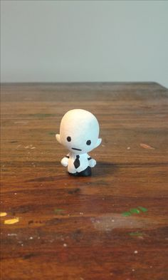 """""""Elsen"""" was inspired by a character of the same name from the game Off. He was created  from a GoGo's Crazy Bones figure, and was the first GoGo custom I ever did."""
