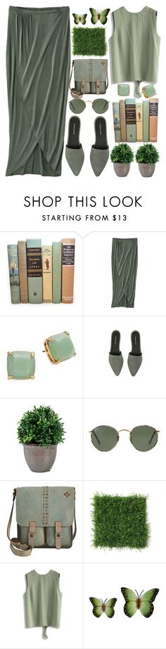 """Openback Top"" by grozdana-v ❤ liked on Polyvore featuring Mossimo, Kate Spade, Warehouse, Ray-Ban, Patricia Nash, Chicwish and NOVICA"
