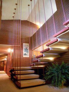 Herman T. Mossberg residence. 1948. South Bend, Indiana. Usonian Style. Frank Lloyd Wright