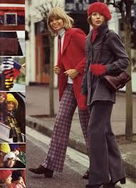 70's pantalons en tissu.