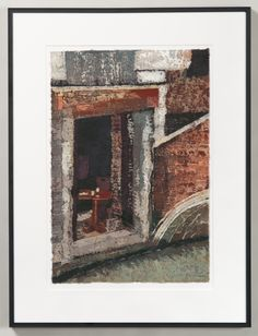 """""""By the Canal"""" by Paige Mortensen --- 2015; Ginwashi paper, wax, watercolour; batik process on paper; 62 x 47 x 2 (framed) 42 x 30 (unframed); Value: $350.00; For Sale Hand Craft Work, Touring, Watercolour, Wax, Gallery, Paper, Frame, Painting, Pen And Wash"""