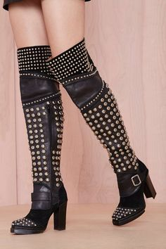studded Jeffrey Campbell boots