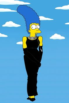 Marge as Audrey Hepburn / Marge Simpson Models The Most Iconic Fashion Poses Of All Time via Illustrator aleXsandro Palombo (via BuzzFeed)