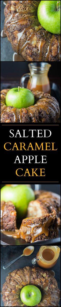 Salted Caramel Apple Cake | Catz in the Kitchen | catzinthekitchen.com…