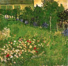 Vincent van Gogh, 1890 Daubigny's Garden#bluedivagal, bluedivadesigns.wordpress.com