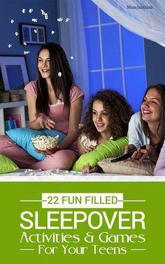 22 Fun Sleepover Games And Activities For Teens ( 9 To 18 Years) - Party Ideen Teenage Sleepover Ideas, Sleepover Party Games, Teen Sleepover, Teenage Parties, Slumber Parties, Activities For Girls, Games For Teens, Party Activities, Party Games For Tweens