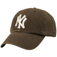 '47 Brand New York Yankees Brown Clean Up Adjustable Hat