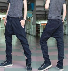 Free shipping Summer Fashion Male Taper Black Skinny Cargo Chino Harem Pants Hiphop Distressed Jeans Mens Clothing Online S-XL $31.68