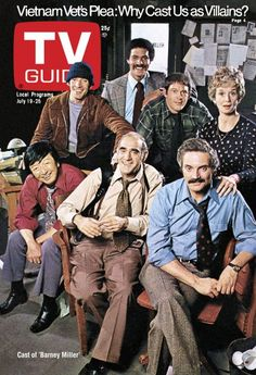 TV Guide July 19, 1975 - Gregory Sierra, Ron Glass, Maxwell Gail, Barbara Barrie, Jack Soo, Abe Vigoda and Hal Linden of Barney Miller.