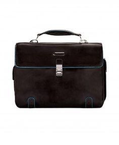 Per il lavoro cartella piquadro 2 soffietti porta computer blue square mogano Sconto del 25% #Fashion #borsa