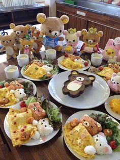 healthy eating for kids - pinning this bcoz OMG the effort! rilakkuma bento!
