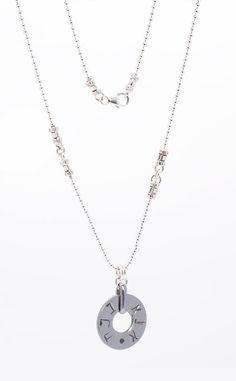 Unisex Israeli Handmade Kabbalah Silver Ball Chain Necklace with Ana B'Koakh Engraved on Circle Pendant - Customizable & Made per Order