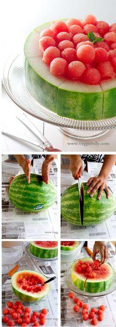 http://thecakebar.tumblr.com/post/18624376120/watermelon-cake-tutorial-recipes-adult #food_drink #diy_crafts