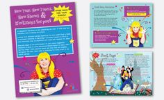 Brochure design for children's drama workshops
