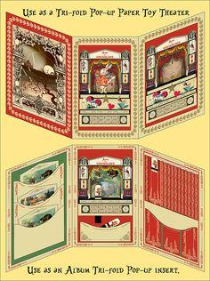 Tri-Fold Alice in Wonderland Album Insert Tri-fold Alice Paper
