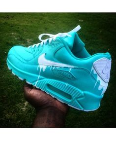 best website b0a30 67c86 Chaussure Nike Air Max 90 Candy Drip Cyan UK Cool Trainers, Nike Air Max  Trainers