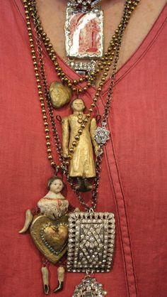 Vintage doll necklace