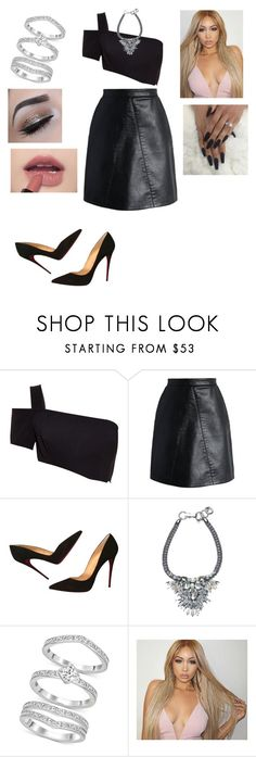 """""""Untitled #3304"""" by vanessa898 ❤ liked on Polyvore featuring Thierry Mugler, Chicwish, Christian Louboutin and Swarovski"""