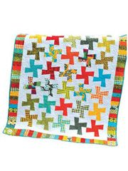 "Color in Motion Quilt Pattern  Baby 46"" x 54"" using 84 charm sqs"