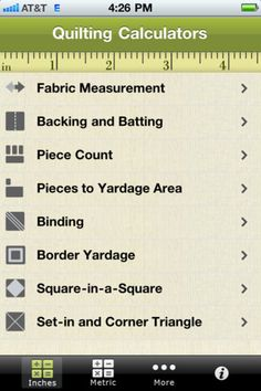 Crafty Tech Tip � Free Quilting Calculators Apps