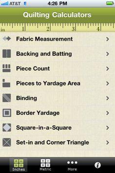 Found an app for you guys to get! Quilting Calculators Apps @Maria Canavello Mrasek Zeller @Sherri Levek Zeller @Rebecca A Zeller @Anna Totten Zeller