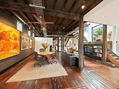 Terrific textures and materials in this former warehouse.