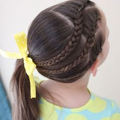 Braided Hairstyles For Little Girls Easy and Cute Little Girl Hairstyles Double Bun Pigtails Ponytails Braided Half-Updo Classic Bun Toddler Braided Hairstyles For School, Girls School Hairstyles, Cute Little Girl Hairstyles, Little Girl Braids, Box Braids Hairstyles, Black Girls Hairstyles, Cool Hairstyles, Toddler Hairstyles, Teenage Hairstyles