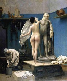 artistic-anatomy-jean-leon-gerome-the-end-of-the-sitting