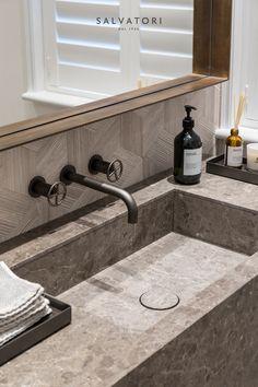 Wimbledon private house - Via Asha Design - Snook Photograph Stone Tile Texture, Stone Tiles, Tiles Texture, Exterior Design, Interior And Exterior, Marble Stones, Bathroom Inspo, Washroom, Wimbledon