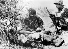 French soldiers rested after leading a counterattack during the bloody siege at Dien Bien Phu in this April 2, 1954