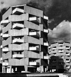 State Building Department II Block of Flats Lahr Germany 1959-62