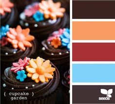 Love the colors against the chocolate!