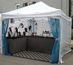 new outdoor display | CWE art show booth | Robin Ragsdale | Flickr