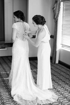 Blush and Navy Rustic Chic Wedding
