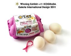 O'Egg #Brand #Packaging - A #Winning Exhibit with ICOGRADA Galleria International !