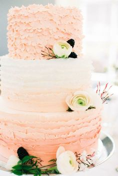Cake colors of a beach sunrise. We wouldn't have it any other way!