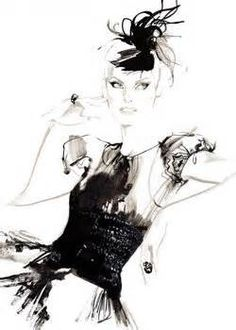 Linda E | David Downton Fashion Illustration
