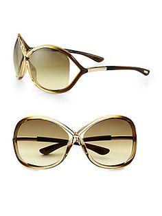 Tom Ford Eyewear Whitney Oversized Oval Acetate Sunglasses