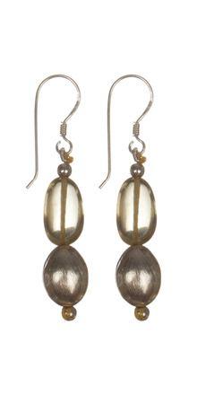 Gleaming 925 Sterling Silver Lemon Quartz Earrings | Rs. 1,220 | http://voylla.com