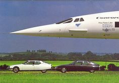 Concorde G-AXDN and Citroen SM /// For more interior POP and other stuff, go to Interiorator.com - transmitting tomorrow's trends today on http://www.interiorator.com