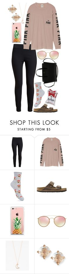 """my daily outfit"" by ockey-33 ❤ liked on Polyvore featuring STELLA McCARTNEY, Victoria's Secret, Miss Selfridge, Birkenstock, The Casery, Ray-Ban, Full Tilt, Suzanne Kalan and Lacoste"