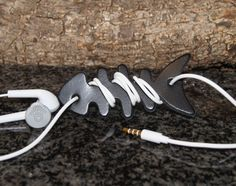 Leather Earphone Cord Winder by OliveWoodJewellery on Etsy