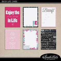 Free Enjoy Life Journal Cards from Jennifer Labre Designs {on Facebook}