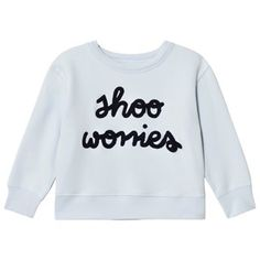 Tinycottons Shoo Worries Graphic Sweatshirt Ljusblå/Mörk Marinblå Light Blue / Dark Navy