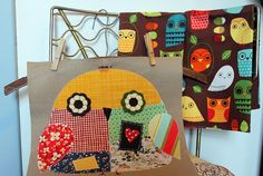 Love this fun and scrappy owl.   Hmmm, pillow or quilt?