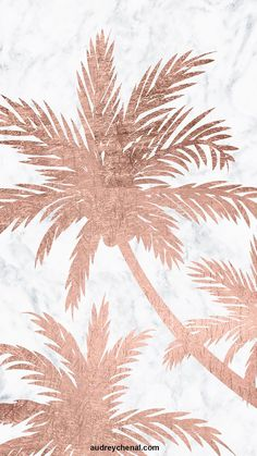 samsung wallpaper girly Tropical simple rose gold palm trees white marble by Audrey Chenal Gold Wallpaper Background, Rose Gold Wallpaper, Cute Wallpaper Backgrounds, Pretty Wallpapers, Trendy Wallpaper, Wallpaper Lockscreen, Flower Wallpaper, Rose Gold Lockscreen, Easy Wallpaper