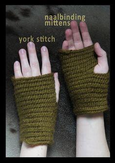 naalbinding mittens rekodzielnica.blogspot.com