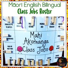 A fully editable class job chart in English and Māori. You will need Adobe PDF. Included in the file are the translations of some common classroom jobs. Class Meeting - Hui akomanga - Circle time - Hui whaiaro Clean Tables - Horoia ngā tēpu or